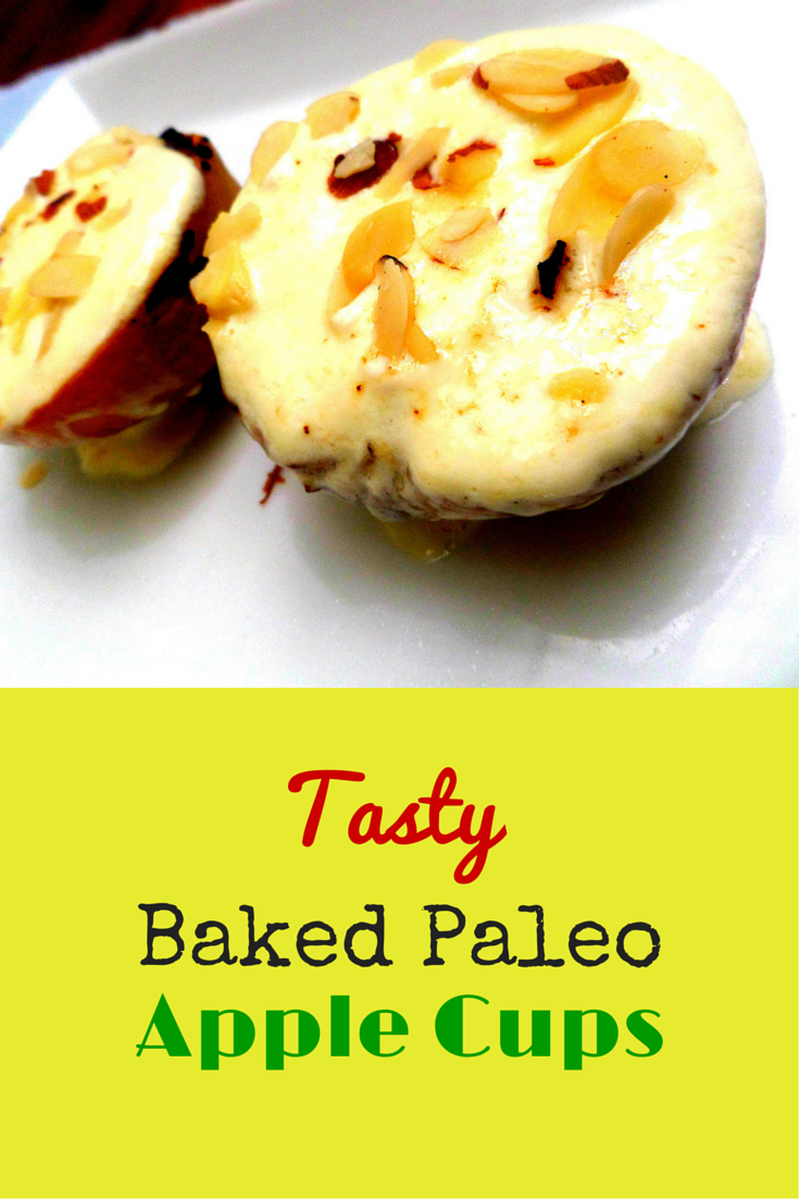 Tasty Baked Paleo Apples Cups - Super delicious and amazing apple recipe! #PaleoDessert #PaleoRecipe #PaleoFood #BakedApples