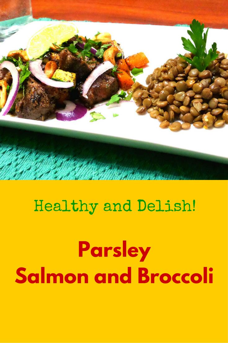 Parsley Salmon and Broccoli - definitely perfect healthy food for dinner! #PaleoFood #PaleoDinner #PaleoRecipe #ProudtobePaleo
