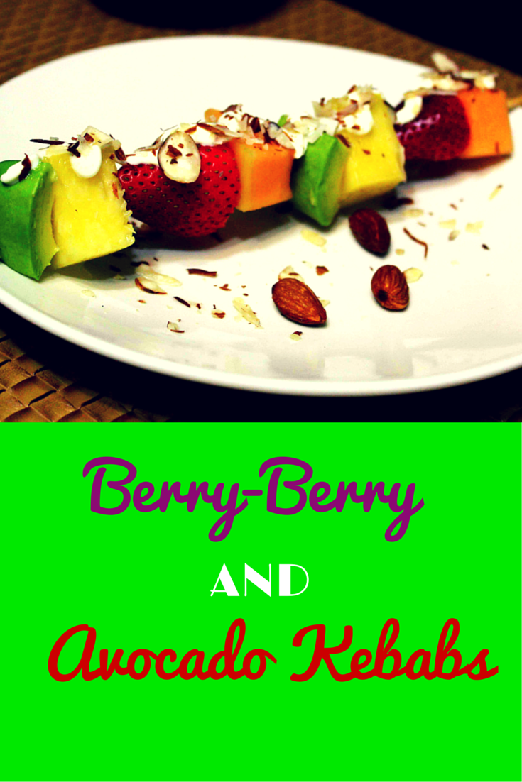 Perfect Mix of Berry-Berry and Avocado Paleo Kebabs - amazing combination of fruits skewers! Recommended for healthy & clean eating! #PaleoFood #PaleoRecipe #PaleoLiving #Paleo