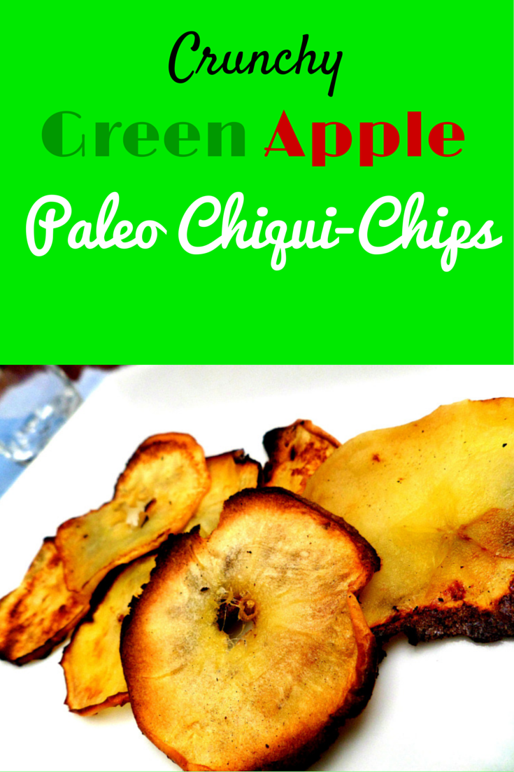 Crunchy Green Apple Paleo Chiqui-Chips - amazing healthy dessert that you can bring everywhere! #PaleoDessert #PaleoFood #PaleoRecipe #Paleo #PaleoLiving