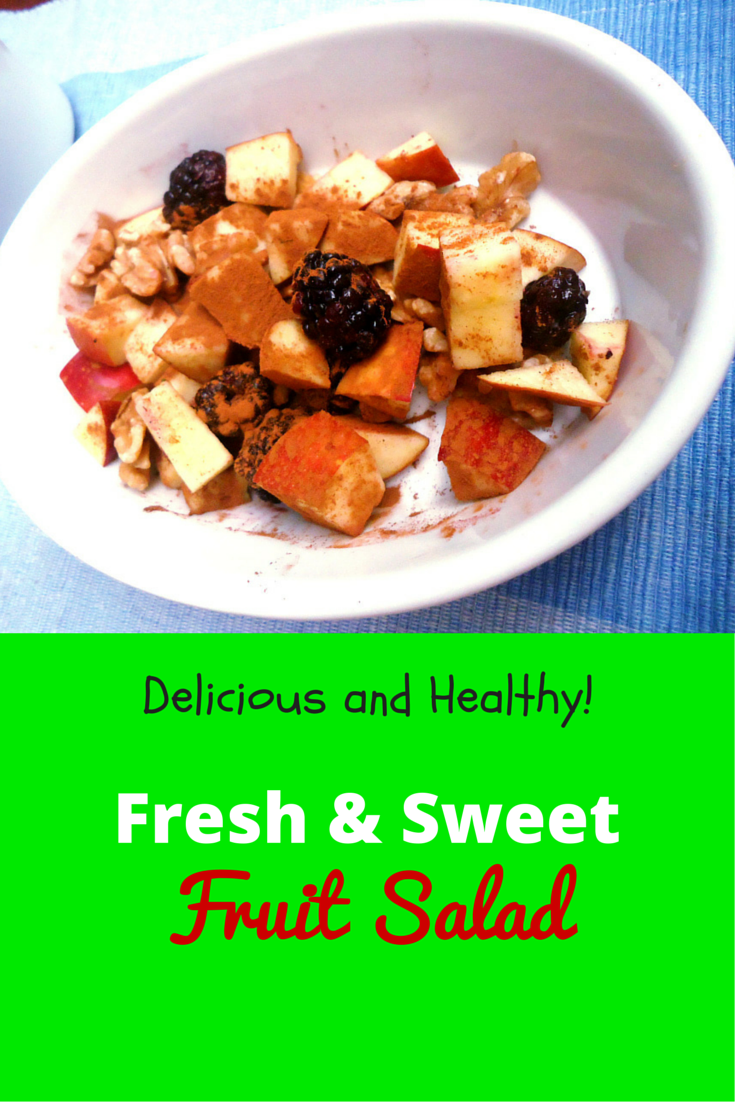 Fresh & Sweet Fruit Salad - try this different fruit salad recipe, the best! #PaleoDessert #PaleoRecipe #PaleoFood #ProudtobePaleo