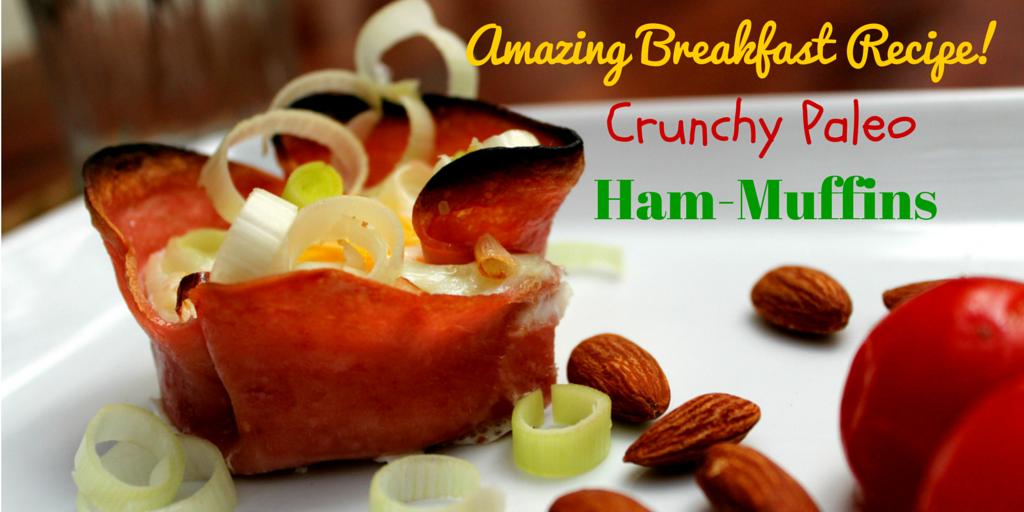 Crunchy Paleo Ham-Muffins - a perfect light meal for breakfast! #PaleoBreakfast #PaleoRecipe #PaleoFood #Paleo