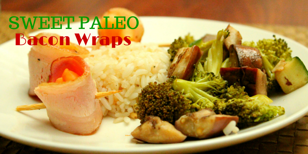 Sweet Paleo Bacon Wraps - improve your nutrition by eating healthy! Try this recipe! #PaleoLunch #PaleoFood #PaleoRecipe #PaleoBacon #ProudtobePaleo