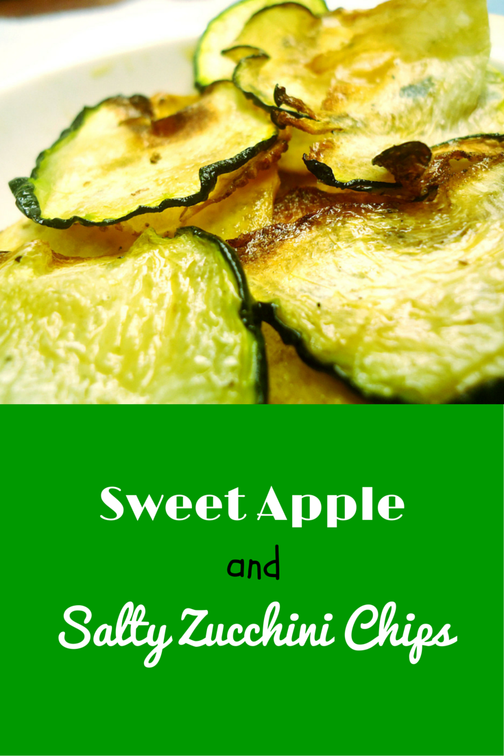 Sweet Apple & Salty Zucchini Chips - make a tasty and healthy snack with this recipe! #PaleRecipe #PaleoFood #PaleoSnack #Paleo #ProudtobePaleo