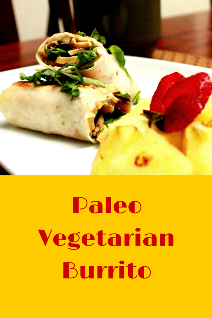 Paleo Vegetarian Burrito - the burrito recipe is flavorful, healthy and easy to make! #PaleoFood #PaleoBreakfast #PaleoRecipe #Paleo #ProudtobePaleo
