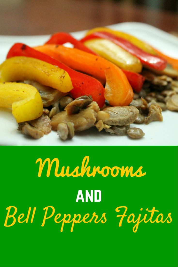 Mushrooms & Bell Peppers Fajitas - awesome recipe for dinner! #PaleoFood #PaleoRecipe #PaleoDinner #Paleo