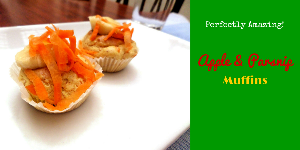 Apple & Parsnip Muffins – perfect mix of vegetable and fruit into one recipe! #PaleoFood #PaleoRecipe #PaleoDessert #Paleo