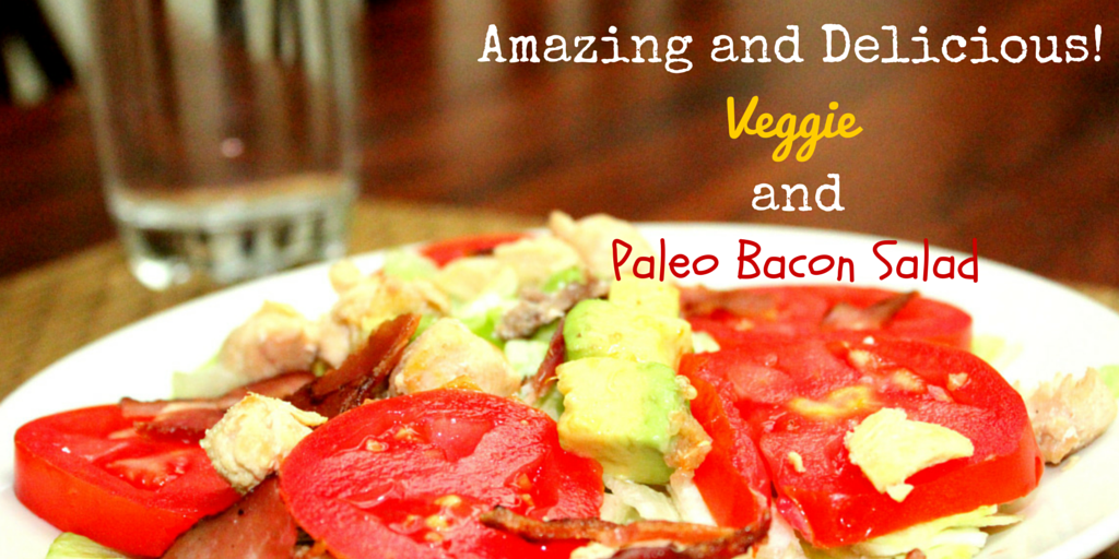 Veggie and Bacon Salad - eat healthy, be nutrition wealthy with this recipe! #PaleoRecipe #PaleoLunch #PaleoFood #Paleo #ProudtobePaleo