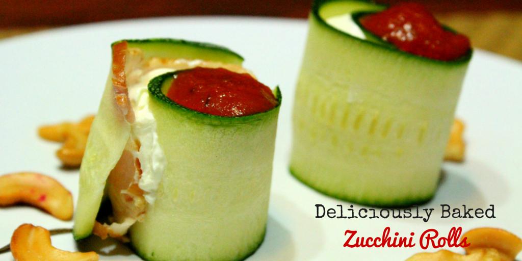 Deliciously Baked Zucchini Rolls - delightful taste and rich in vitamins recipe! #PaleoFood #PaleoSnack #PaleoRecipe #Paleo #ProudtobePaleo