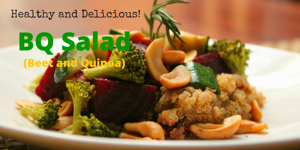 Healthy Paleo BQ Salad (Beet and Quinoa) - perfect pair for an amazing recipe! #PaleoRecipe #PaleoFood #PaleoLunch #Paleo #ProudtobePaleo