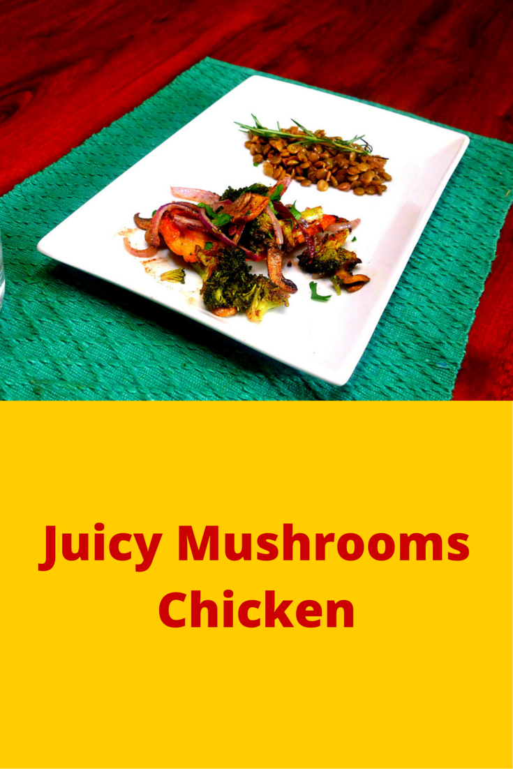 Juicy Mushrooms Chicken - fast and easy chicken-mushroom recipe! #PaleoFood #PaleoDinner #PaleoRecipe #Paleo #ProudtobePaleo