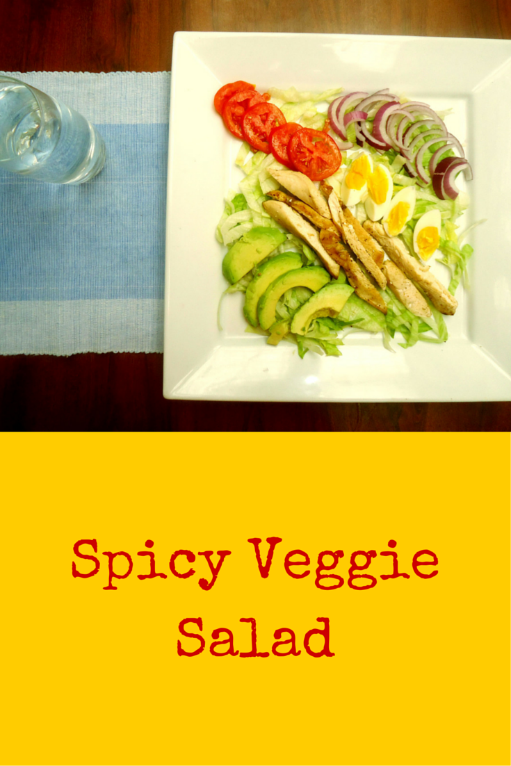 Spicy Veggie Salad - it has what we need for our body, indeed, super heathy! #PaleoFood #PaleoRecipe #PaleoLunch #Paleo #ProudtobePaleo