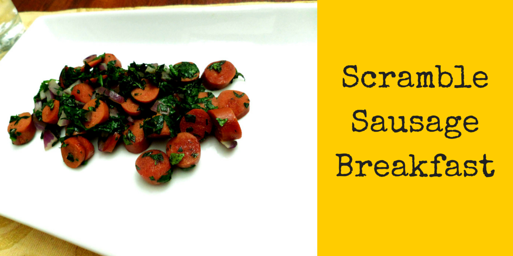 Delish Scramble Sausage Breakfast - try these cheap, comforting and delicious italian sausages! #PaleoFood #PaleoBreakfast #PaleoRecipe #ProudtobePaleo #Paleo
