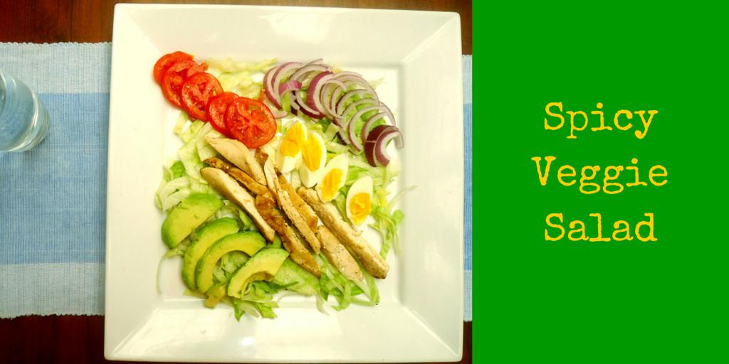Spicy Veggie Salad - it has what we need for our body, indeed, super heathy! #PaleoFood #PaleoRecipe #PaleoLunch #Paleo #ProudtobePaleo
