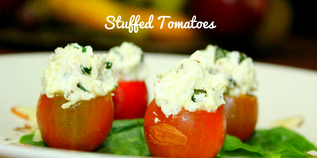 Stuffed Tomatoes - looks like a simple recipe but it's definitely healthy! #PaleoFood #PaleoRecipe #PaleoSnack #Paleo #ProudtobePaleo