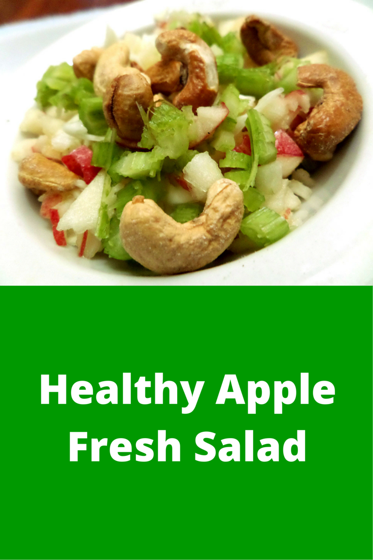Healthy Apple Fresh Salad - easy-to-follow and always perfect salad snack recipe! #PaleoFood #PaleoSnack #Paleo #PaleoRecipe #ProudtobePaleo