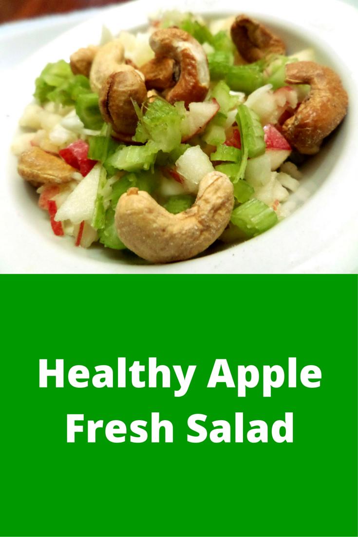 Healthy Apple Fresh Salad - easy-to-follow and always perfect salad snack recipe! #PaleoFood #PaleoSnack #Paleo #PaleoRecipe #ProudtobePaleo