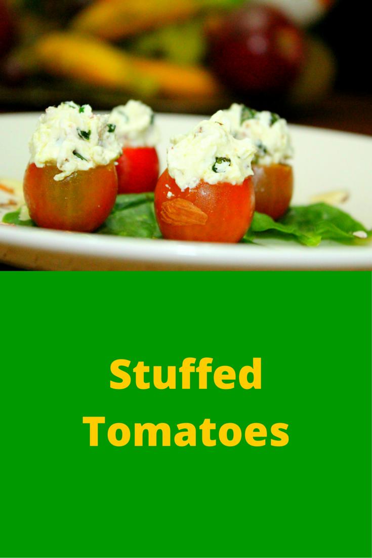 Stuffed Tomatoes - looks like a simple recipe but it's definitely healthy! #PaleoFood #PaleoRecipe #PaleoSnack #Paleo #ProudtobePaleo
