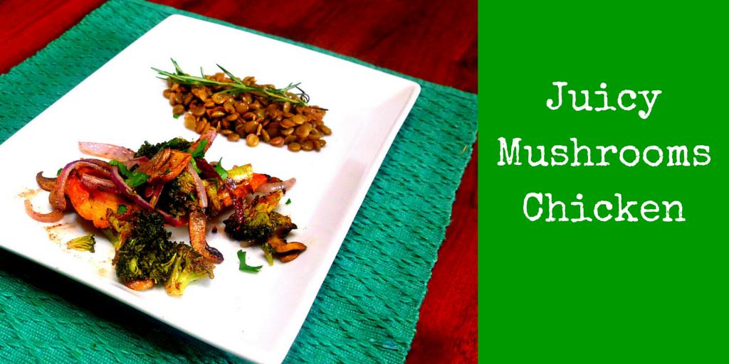 Juicy Mushrooms Chicken - fast and easy chicken-mushroom recipe! #PaleoFood #PaleoDinner #PaleoRecipe #Paleo #ProudtobePaleo