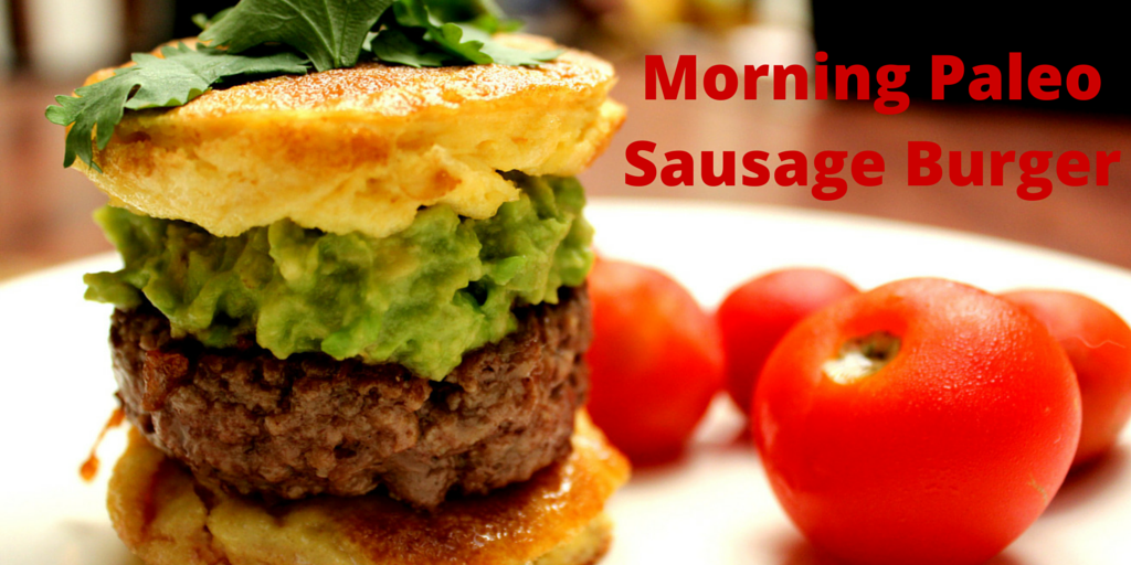 Morning Paleo Sausage Burger - so classic and healthy burger for breakfast! #PaleoFood #PaleoRecipe #PaleoBreakfast #Paleo #ProudtobePaleo