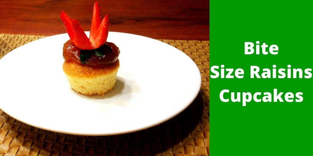 Bite Size Raisins Cupcakes - enjoy every bite of this delicious cupcake! #PaleoRecipe #PaleoFood #PaloeDessert #Paleo #ProudtobePaleo