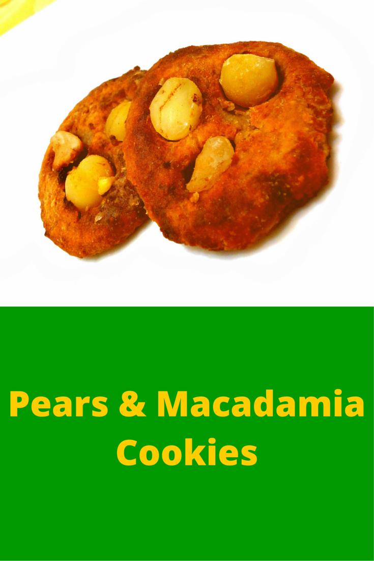 Pears & Macadamia Cookies - easy to cook cookies and has a taste of real fruit! #PaleoFood #PaleoRecipe #PaleoDessert #Paleo #ProudtobePaleo