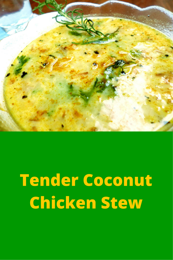 Tender Coconut Chicken Stew - discover this delicious and easy to prepare chicken stew recipe! #PaleoFood #PaleoDinner #PaleoRecipe #Paleo #ProudtobePaleo