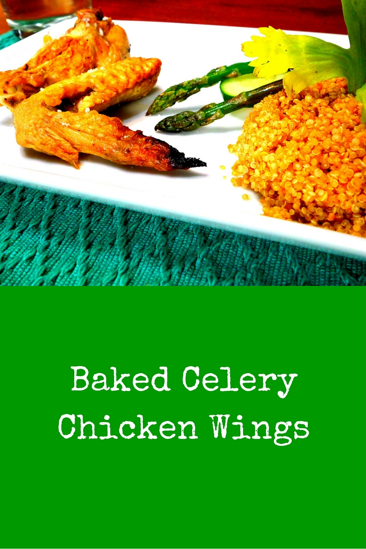 Baked Celery Chicken Wings - chicken lover? Get some, buy some, and cook some following this recipe! #PaleoFood #PaleoDinner #PaleoRecipe #Paleo #ProudtobePaleo