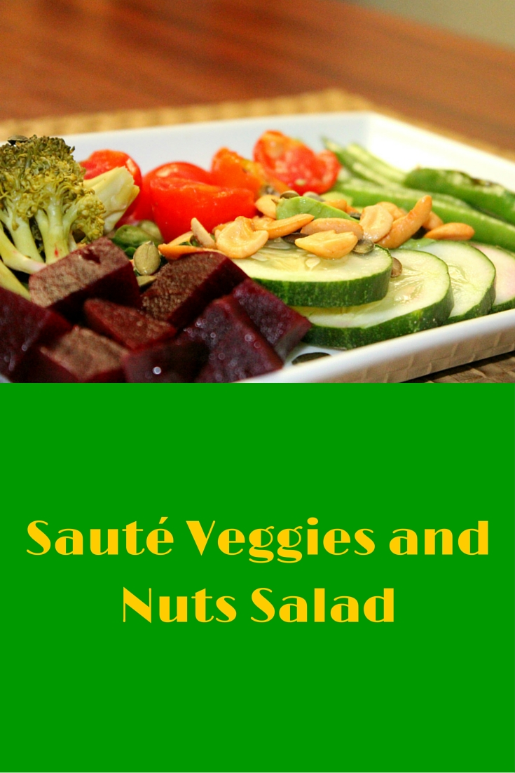 Sauté Veggies and Nuts Salad - excellent recipe to use up veggies plus nuts! Simply a healthy dinner! #PaleoFood #PaleoRecipe #PaleoDinner #Paleo #ProudtobePaleo