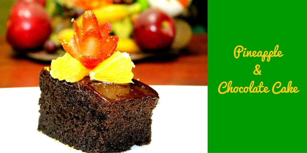 Pineapple & Chocolate Cake - Thinking of a yummy dessert? Try this! #PaleoFood #PaleoRecipe #PaleoDessert #Paleo #ProudtobePaleo