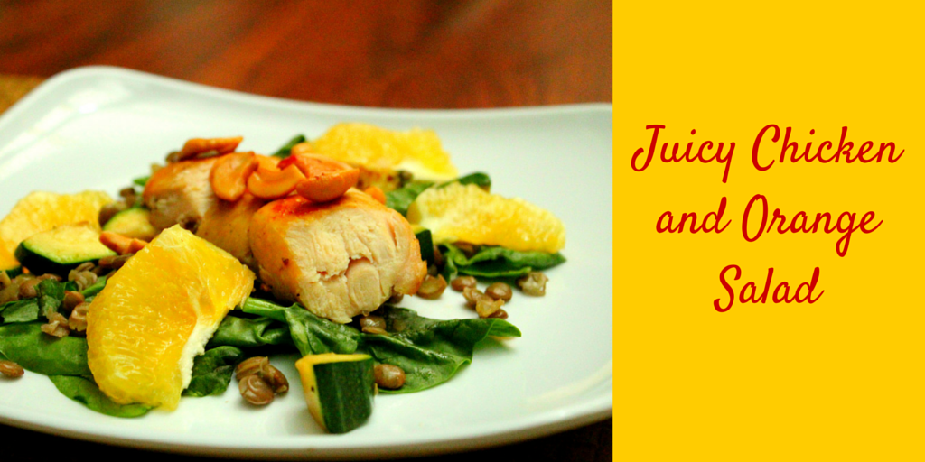 Juicy Chicken and Orange Salad - perfect lunch! #PaleoFood #PaleoRecipe #PaleoLunch #Paleo #ProudtobePaleo