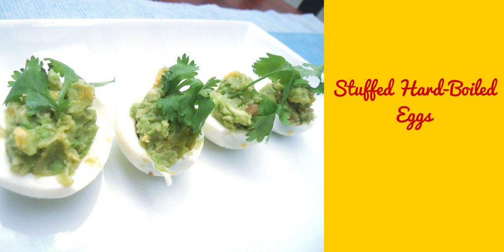 Stuffed Hard-Boiled Eggs - quick and easy recipe! #PaleoFood #PaleoSnack #PaleoRecipe #Paleo #ProudtobePaleo