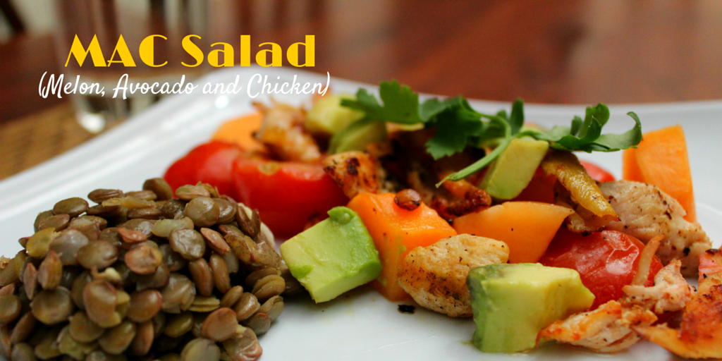 MAC Salad (Melon, Avocado and Chicken) - try this the best and tastiest melon, avocado, and chicken salad recipe! #PaleoFood #PaleoRecipe #PaleoLunch #Paleo #ProudtobePaleo